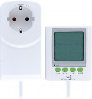 SCHWAIGER -661576- Stormverbrauchszähler, Energiekostenmessgerät, Weiß
