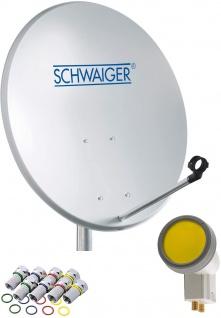 SCHWAIGER -715866- SAT Anlage aus Aluminium, Hellgrau