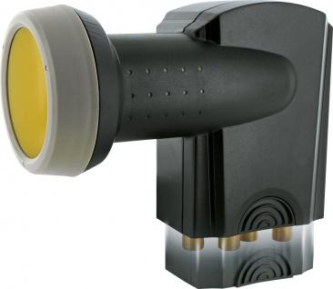 SCHWAIGER -SPS6818A 511- SUN PROTECT - Digitales Quattro LNB mit vergoldeten Anschlüssen, Anthrazit