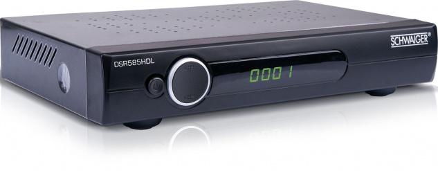 SCHWAIGER -DSR585HDL- FULL HD Satellitenreceiver Free to Air (FTA), Schwarz