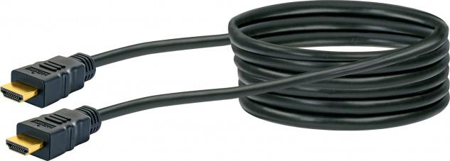 SCHWAIGER -HDMHD30 533- Premium High-Speed-HDMI-Kabel mit Ethernet, Schwarz/Gold - Vorschau 1