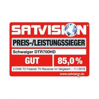 SCHWAIGER -DTR700HD- DVB-T2 HD Receiver mit Irdeto Entschüsselungssystem - Vorschau 5