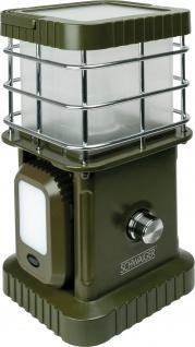 SCHWAIGER -CALED100 511- LED-Campingleuchte mit abnehmbaren Leuchten sowie Bluetooth® Lautsprecher, Olivegrün
