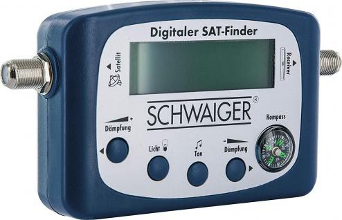 SCHWAIGER -SF80 531- LCD SAT Finder mit Kompass und akustischer Pegelanzeige, Blau