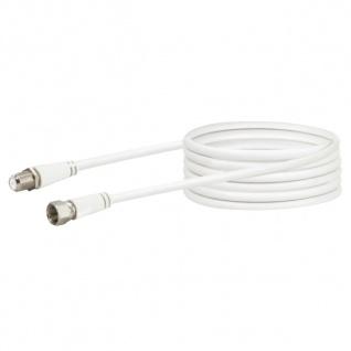 SCHWAIGER -KVCVHQ50 532- SAT Verlängerungskabel (90 dB) F-Stecker zu F-Buchse, Weiß