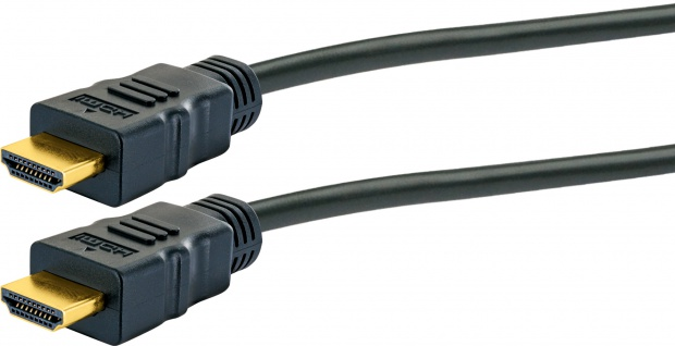 SCHWAIGER -HDM100 013- High-Speed-HDMI-Kabel mit Ethernet, Schwarz/Gold - Vorschau 2