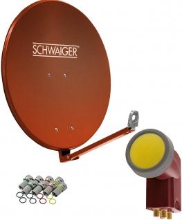 SCHWAIGER -714616- SAT Anlage aus Aluminium, Ziegelrot