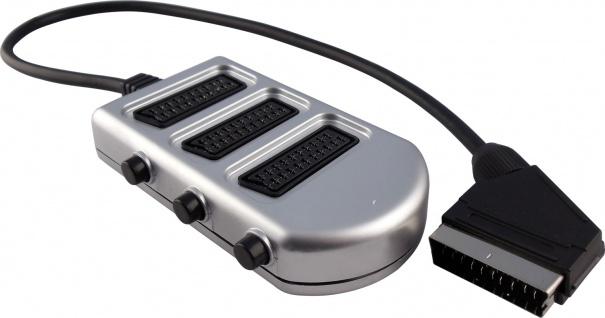 SCHWAIGER -SCVG31 531- 3-fach SCART Verteiler SCART Stecker (21-pol.) > 3 SCART Buchsen (21-pol.)