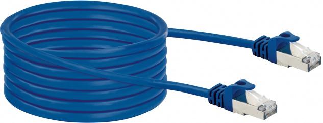 SCHWAIGER -CKO8050 531- Netzwerkkabel (S/FTP), Blau