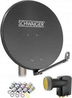 SCHWAIGER -714609- SAT Anlage aus Aluminium, Anthrazit