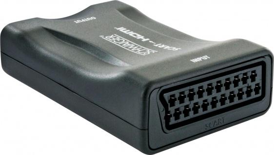 SCHWAIGER -HDMSCA01 511- SCART-HDMI-Konverter, Schwarz