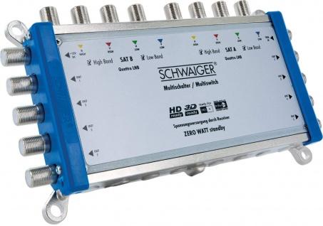 SCHWAIGER -SEW98 531- SAT Multischalter 9 ? 8, Silber/Blau