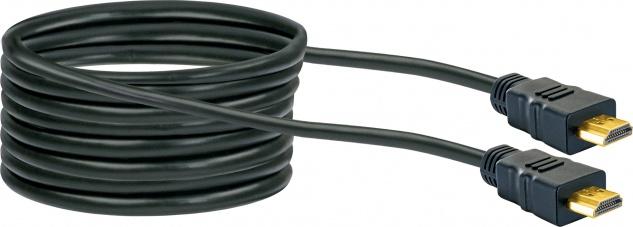 SCHWAIGER -HDM100 013- High-Speed-HDMI-Kabel mit Ethernet, Schwarz/Gold - Vorschau 5