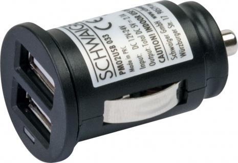 SCHWAIGER -PM02USB 033- USB Ladeadapter (12 V) Der ideale Begleiter im Fahrzeug., Schwarz