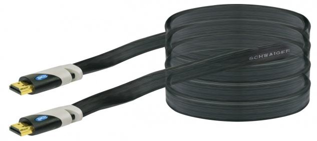 SCHWAIGER -HDMF30 533- High-Speed-HDMI-Kabel mit Ethernet HDMI-Stecker zu HDMI-Stecker, Schwarz