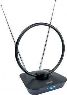 SCHWAIGER -ZA8960 013- DVB-T2(T) Zimmerantenne (aktiv) für den Empfang von UKW, VHF, UHF, Schwarz