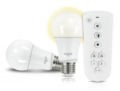 SCHWAIGER -HALSET100- LED Leuchtmittel Set (E27) als dimmbares Wohnlicht, Smart Home, weiß