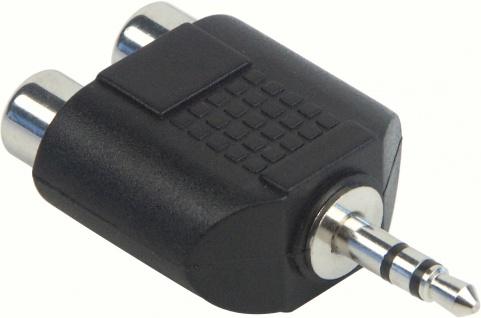 SCHWAIGER -KHA4090 533- AUDIO Adapter Klinkenstecker (3, 5 mm) > 2 CINCH Buchsen
