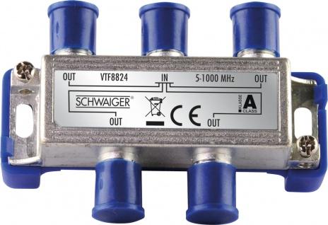 SCHWAIGER -VTF8824 241- 4-fach Verteiler (8 dB) für Kabel- und Antennenanlagen, Violett