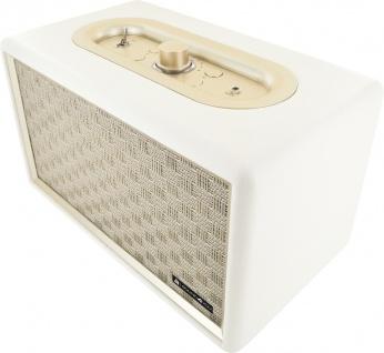 SCHWAIGER -661712- Retro Bluetooth Lautsprecher, Weiß
