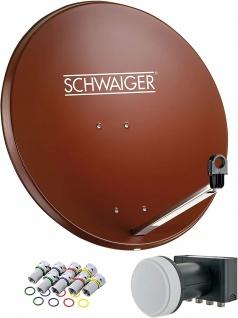 SCHWAIGER -714524- SAT Anlage aus Stahl, Ziegelrot