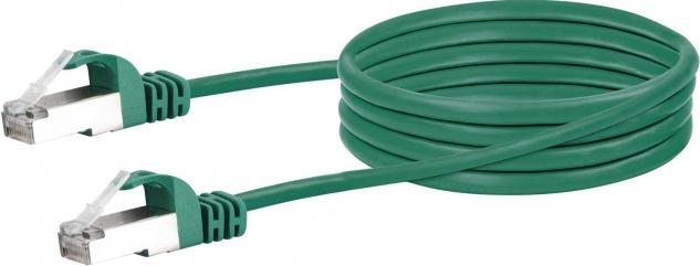 SCHWAIGER -CKB6005 059- CAT 6 Netzwerkkabel (SF/UTP) RJ45 Stecker zu RJ45 Stecker, Grün