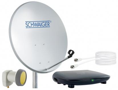 SCHWAIGER -719758- SAT Set, Satelliten Anlage, Hellgrau