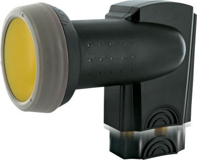 SCHWAIGER -SPS6814A 511- SUN PROTECT - Digitales Twin LNB mit vergoldeten Anschlüssen, Anthrazit