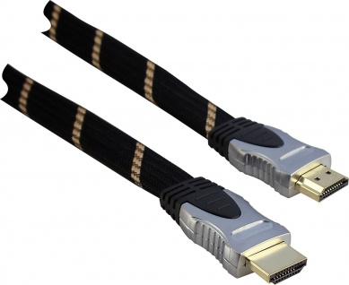 SCHWAIGER -HDMHQ50 531- High-Speed-HDMI-Kabel mit Ethernet HDMI-Stecker zu HDMI-Stecker, Schwarz