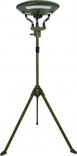SCHWAIGER -CALED200 511- LED-Campingleuchte auf Stativ mit abnehmbaren Leuchten sowie Bluetooth® Lautsprecher, Olivegrün