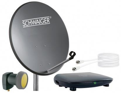 SCHWAIGER -719765- SAT Set, Satelliten Anlage, Anthrazit
