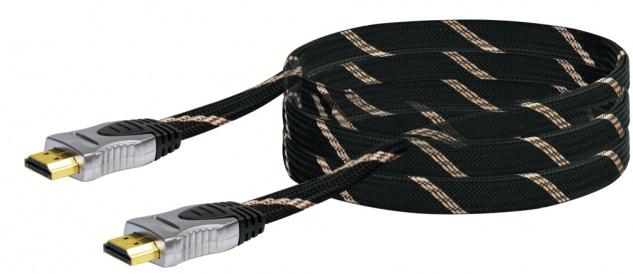 SCHWAIGER -HDMHQ30 531- High-Speed-HDMI-Kabel mit Ethernet HDMI-Stecker zu HDMI-Stecker, Schwarz