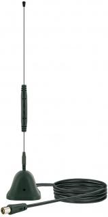 SCHWAIGER -ANT04DTA 031- DVB-T2 HD Stabantenne (aktiv) mit Magnetfuss und Verstärker, Schwarz