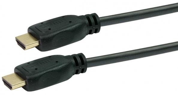 Schwaiger -hdm0500 043- High-speed-hdmi-kabel Mit Ethernet Hdmi-stecker Zu Hdmi-stecker, Schwarz - Vorschau 2