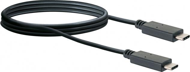 SCHWAIGER -CK3131 533- USB 3.2 Anschlusskabel USB Type C Stecker zu USB Type C Stecker, Schwarz