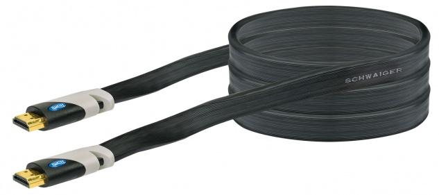 SCHWAIGER -HDMF15 533- High-Speed-HDMI-Kabel mit Ethernet HDMI-Stecker zu HDMI-Stecker, Schwarz