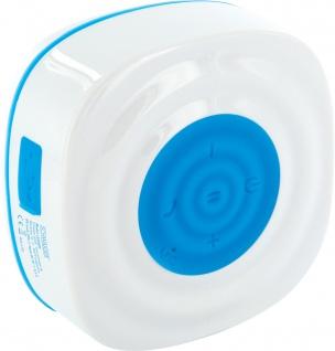 SCHWAIGER -LS500BT 512- Bluetooth® Lautsprecher mit Saugnapf, Blau/Weiß