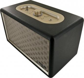 SCHWAIGER -661705- Retro Bluetooth Lautsprecher, Schwarz