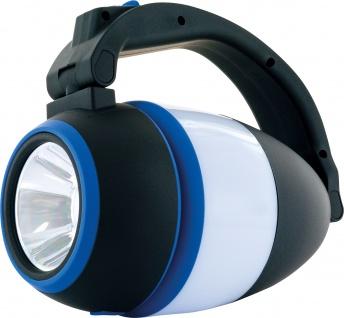 SCHWAIGER -661606- LED 3in1 Camping Lampe, Blau/Schwarz