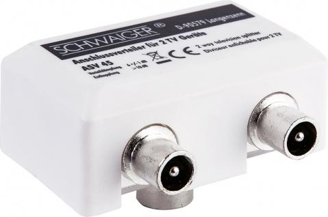 SCHWAIGER -ASV45 532- 2-fach Aufsteckverteiler (TV) für Kabel- und Antennenanlagen
