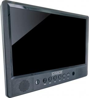 SCHWAIGER -716474- DVD Monitor Set mit Fernbedienung, schwarz