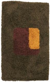 Hochflor Teppich - 153 x 96 cm - mehrfarbig