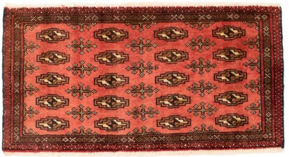 Turkaman Teppich - 130 x 60 cm - rost