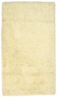 Hochflor Teppich - 158 x 90 cm - beige