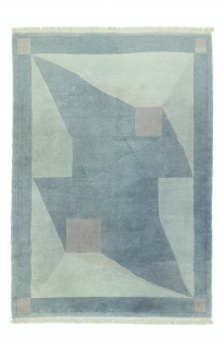 Nepal Teppich - 290 x 200 cm - hellblau