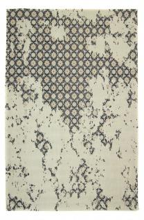Vintage Teppich Viskose Abstrakt Modern Kurzflor Boho Handgearbeitet Naturfaser