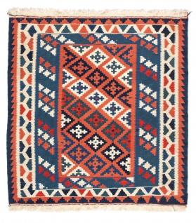 Morgenland Kelim Teppich - Oriental quadratisch - 100 x 96 cm - blau