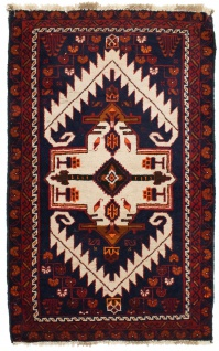 Belutsch Teppich - 132 x 84 cm - blau