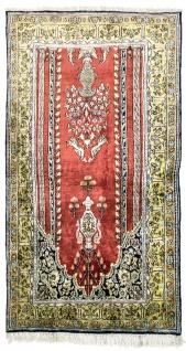 Seidenteppich - Kayseri - 137 x 77 cm - rot