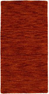 Wollteppich - 112 x 60 cm - rost